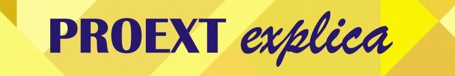 Cartaz amarelo com letras azuis